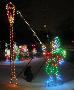 Holiday Lights in the Park is a dynamic light display in Phalen Park.