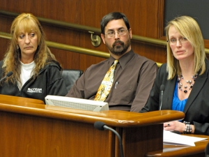 Testifying before the House committee: Becki Jacobson, Moorhead school teacher Jeff Offutt and Moorhead City Council Member Heidi Durand.