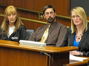 Testifying before the House committee: Becki Jacobson, Moorhead school teacher Jeff Offutt and Moorhead City Council Member Heidi Durand.