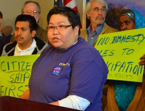 SEIU Healthcare Minnesota member Mitch Azarcon talks about her mother's struggle for U.S. citizenship.