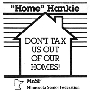 "Minnesota's seniors waved World Series-inspired ""Home"" Hankies at a Capitol rally focused on making the state's tax system fairer for people living on fixed incomes."