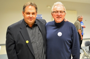 Incumbent school board member John Brodrick (right), with St. Paul Regional Labor Federation President Bobby Kasper, will be among the labor candidates seeking DFL endorsement June 8.