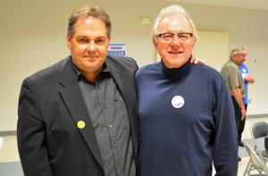 Incumbent school board member John Brodrick (right), with St. Paul Regional Labor Federation President Bobby Kasper, will be among the labor candidates seeking DFL endorsement June 8.