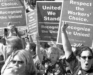 Demonstrators targeted Walker Methodist in August 2003.
