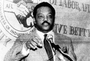 Rev. Jesse Jackson spoke at labor event in St. Paul in 1988.