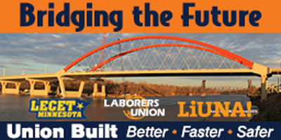 A billboard will celebrate completion of the new Hastings Bridge.