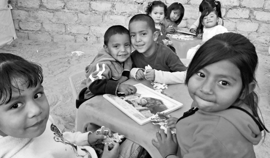 These children at a missionary-run school in the shantytown of Anapra are the next generation growing up under the legacy of NAFTA. (Photo courtesy of the Missionary Society of St. Columban.)