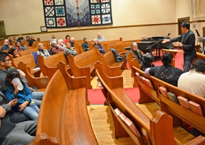 Park Methodist Church in Minneapolis hosted a vigil on the anniversary of MLK's assassination.