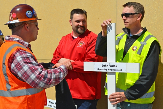 Operating Engineers Local 49 member John Valek died last fall during work on the new ballpark downtown St. Paul.