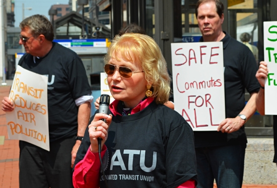 """Bus drivers every day connect people to work, to school, to their dreams. They connect people to a better life. There is dignity in that work,"" Met Council Member Jennifer Munt said. Munt also works as Communications Director for AFSCME Council 5."