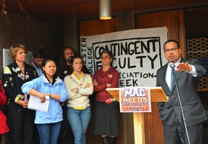 U.S. Rep. Keith Ellison urges Macalester to remain neutral during contingent faculty's organizing drive.
