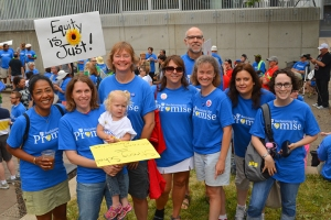 St. Paul Federation of Teachers members at the March for Equity included Kimberly Colbert, Leah Lindemann, President Denise Rodriguez, Rebecca Bauer, Sue Snyder, Erica Schatzlein, Nick Faber and Ellen Olsen.
