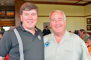 UA General President William Hite (R) traveled to St. Paul with his Mayo Clinic doctor, Keith Stewart.