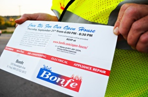 "Bonfe's, a non-union contractor, mailed open-house invitations to members of IBEW Local 110 in an apparent attempt to ""poach"" skilled workers."