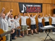 The Twin Cities Labor Chorus performed a benefit concern in the Labor Pavilion on the State Fairgrounds earlier this year.