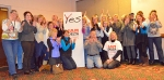 """MSP-based Delta flight attendants gear up to vote """"yes"""" to joining the IAM during a meet-and-greet event in Bloomington last month."""