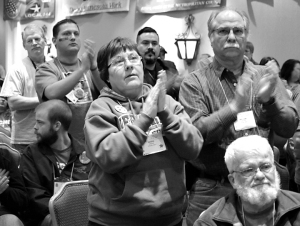 AFSCME members get fired up during Council 5's Day on the Hill rally.