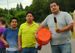 Fired workers (L to R): Romualdo, Demecio and Julio Romero.
