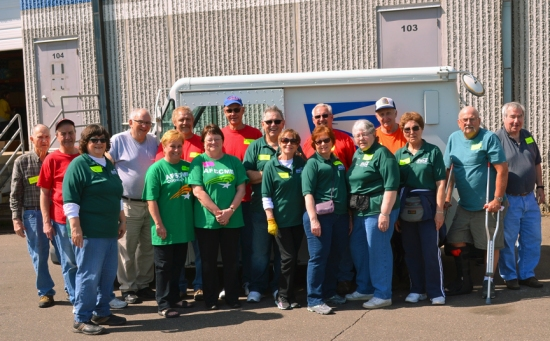 Union volunteers helped staff the Valley Action food bank in Stillwater during the Stamp Out Hunger food drive.
