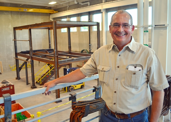 Local 512's two-story training frame was too tall for apprentices to use safely in the local's previous facility, training director Larry Gilbertson said.