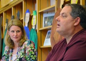 AFL-CIO Secretary-Treasurer Liz Shuler listens to St. Paul RLF President Bobby Kasper's remarks.