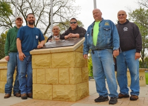Local 110 volunteers (L to R): Dan Hachfeld, Jake Halling, Joe Kaderlik, Chancy Tutak and Steve White.