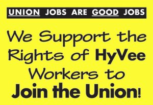 These signs are popping up around the Twin Cities as part of a joint campaign between UFCW locals based in St. Paul and Minneapolis.