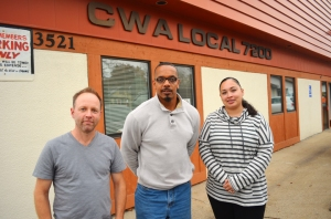 CWA members who attended the Nov. 4 student debt clinic include (L to R) Tom Laabs, Howard Terry and Naomi Holmes.