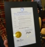 Gov. Mark Dayton presented plumbers with a proclamation declaring Water's Off Day statewide.