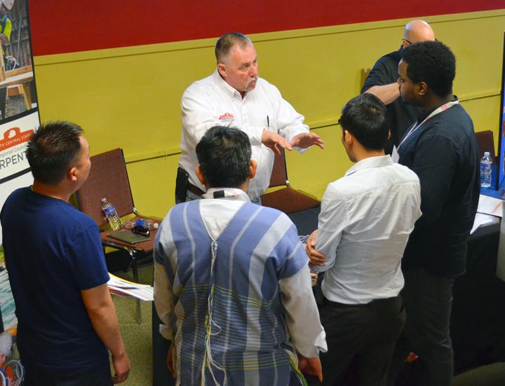 career fair setup hr associates attends wpafb job fair