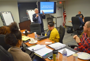 Minnesota AFL-CIO President Bill McCarthy welcomed participants to a three-day training in strategic research.