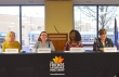Workday Minnesota Editor Barb Kucera (L) moderated a panel discussion with public-sector union leaders, including (L to R) Debbie Prokopf of MAPE, Tee McClenty of MSEA and Denise Specht of Education MN.
