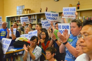 CSE staff and supporters packed the school's June 9 board meeting.