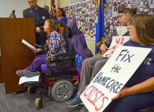 Home care workers and clients kicked off the campaign for a new contract covering more than 20,000 workers statewide in September.