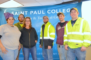 Registered apprentices in Plumbers Local 34's program include (L to R) Tamika Foster-Dixon, Matt Paolo, Joanna Rojas, Jon Antolick, Mitch Gale and Jason Meyer.