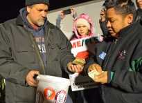 """Teamsters Local 120 """"passed the hat"""" to support out-of-work LME drivers."""