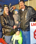 Lisa and Shane Thompson, pictured with their two sons, are both looking for work since Shane found himself out of a job three days before Thanksgiving.
