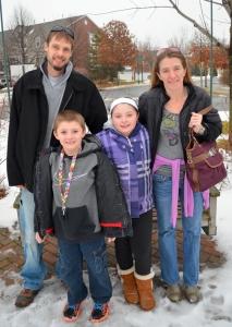 The Hudak family (L to R):Dustin, Brady, Jocelynn and Heather.