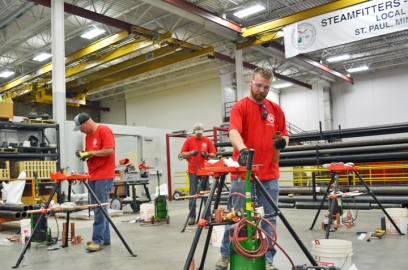 Pipefitters Local 455 hosted most of the competition at its new training center in St. Paul.