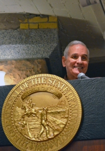 Gov. Dayton praised workers who logged a combined 1.4 million hours on the Capitol renovation.