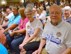 Descendents of stonecutter John Kuettel printed t-shirts for the dedication of a plaque honoring the Capitol's original builders.