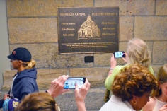 A new plaque in the Capitol basement honors six workers killed during construction of the Capitol.
