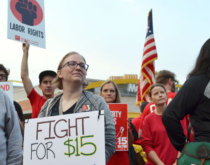 St  Paul fast-food workers strike for $15 on Labor Day – Union Advocate