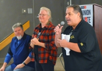 St. Paul Regional Labor Federation President Bobby Kasper fired up volunteers during a Labor 2018 door knock in October.