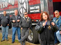 """Julie Blaha, former Secretary-Treasurer of the Minnesota AFL-CIO and labor-endorsed candidate for state auditor, tells Teamsters Blaha remembers walking the FLE picket line two years ago as """"one of the first picket lines I got to be on."""""""