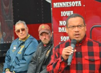 """U.S. Rep. Keith Ellison, the labor-endorsed candidate for attorney general, tells Teamsters he's running for a new job because """"the best any member of Congress can do is write the right law… An attorney general can take their ass to court."""""""