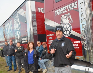 Tom Erickson, Teamsters Local 120 president, says the union is fighting to restore the jobs workers lost two years ago.