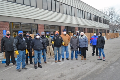 The St. Paul Regional Labor Federation and St. Paul Building Trades teamed up for a distribution event at the Labor Center Feb. 3.