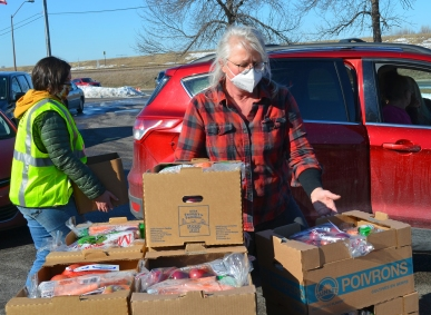 United Food and Commercial Workers Local 1189 and President Jennifer Christensen hosted a giveaway in South St. Paul.