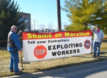 Ironworkers Local 512's Ted DeSantell (L) and Nate O'Reilly